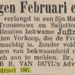 In het pand zat een advertentiebureau, Nieuws van den Dag 13-01-1885