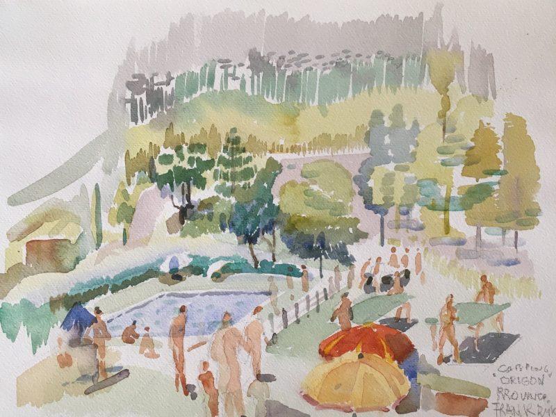Frank Tromp de Haas-Vakantie bij de rivier La Cèze in Frankrijk