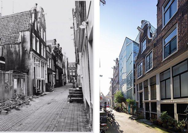 Koestraat voor en na foto