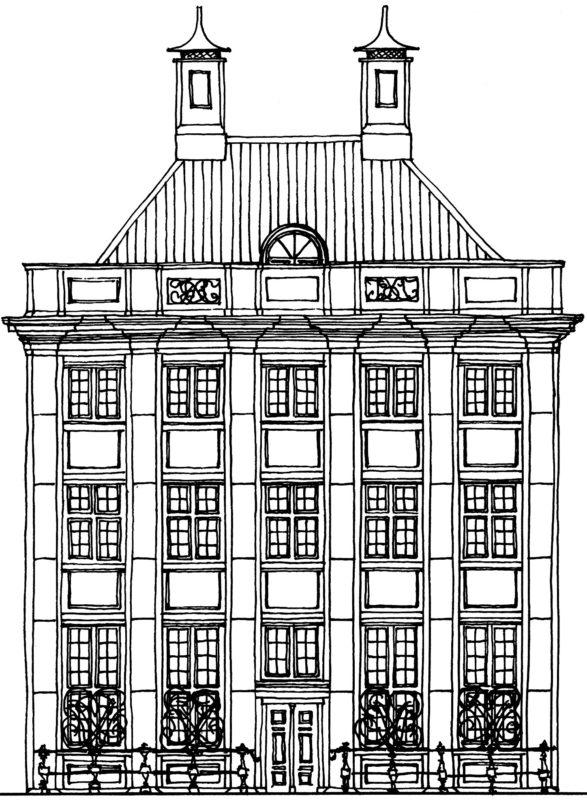 Tekening gevel pand Sint Antoniebreestraat 69