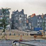 Achtergevel in restauratie door Stadsherstel op de Hoogte Kadijk, Amsterdam.