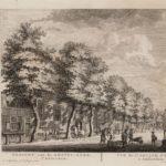 1775-1783 Herman Schouten, voor de Amstelkerk een lantaarn op een paal.