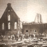 Zaandijkkerk na brand 1878