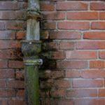 Lekkende goten, bunkers, Foto: Aart-Jan van Mossel.