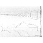Tekening van de nieuw te maken 'kurkentrekker- makelaar'.