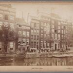 Geldersekade 14 met Hotel de Ster circa 1867