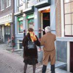 Onthulling door Wim en Mariek van hun gevelsteen.