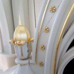 Detail van het vergulde orgel.