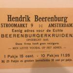Reclame-affice voor Beerenburg.