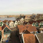 Uitzicht vanaf de toren op de Zaanse Schans