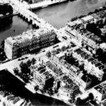 Amstelhotel met in het midden, haaks daarop, de Professor Tulpstraat