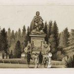 Stadsbeeld van Vondel in het Vondelpark. (1883)