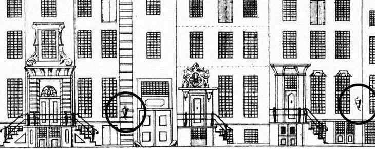 18de-eeuwse gevellantaarn terug in Amsterdam
