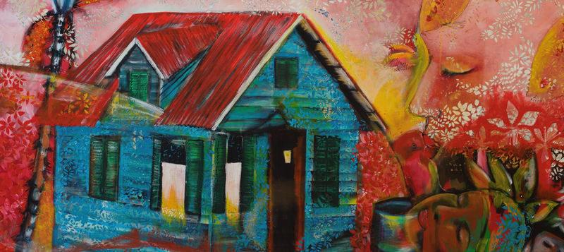 Kleurrijke multimediale art show: in de hoofdrol Surinaamse huisjes