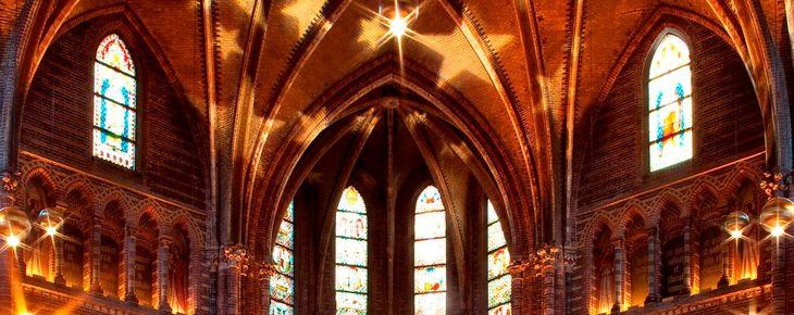 Nederland, Amsterdam, 17 december 2011 Vondelkerk, kerk, interieur, Stadsherstel Foto: Thomas Schlijper - Copyright Thomas Schlijper