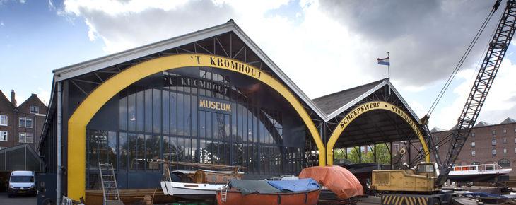 Nederland, Amsterdam, 16 mei 2012 Werf, 't Kromhout, Kromhout, Stadsherstel, museum, scheepswerf Foto: Thomas Schlijper - Copyright Thomas Schlijper