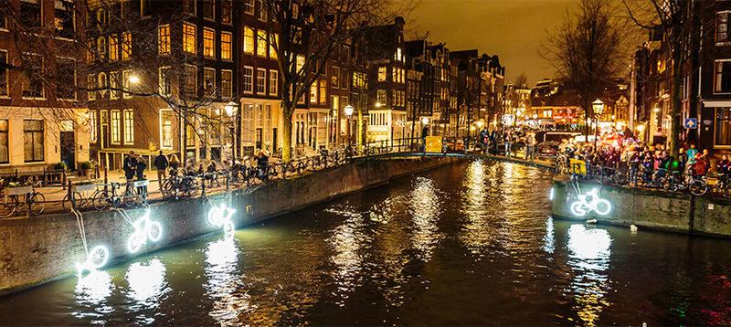 Win kaartjes voor wandeling langs Amsterdam Light Festival