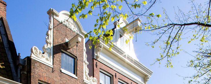 Nederland, Amsterdam, 19 april 2014 Prinsengracht, houses, huizen, huis, house, stadsherstel, centrum, hoogtefoto Foto: Thomas Schlijper - Copyright Thomas Schlijper
