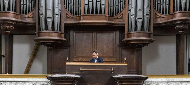 Nederland, Amsterdam, 13 augustus 2017Prinsengracht, De Duif, orgel, organist, Stephan van de WijgertFoto: Thomas Schlijper - Copyright Thomas Schlijper