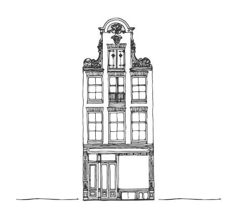 Tekening van Stadsherstel monument Reestraat 5 Amsterdam