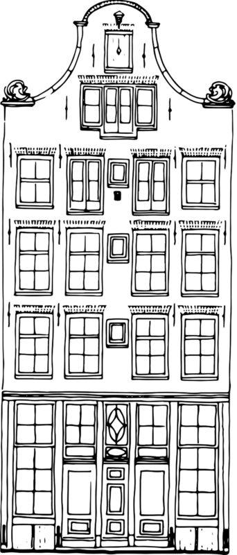 tekening gevel pand Lange Niezel 22