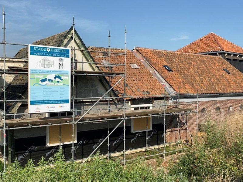 Fronikboerderij restauratie bouwbord