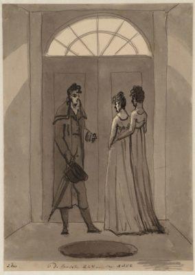 De laatste les aan mej. Balk , (1806, Christiaan Andriessen, Stadsarchief Amsterdam)