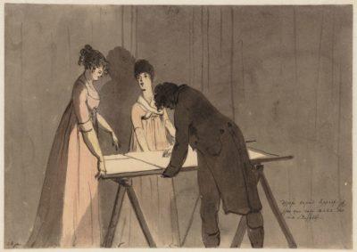 28 jan. Deesen avond hoorde ik iets van mej. Balk dat mij streelde (1806, Stadsarchief Amsterdam, Christaaan Andriessen)