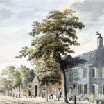 Het Dronkenmanshuisje, tekening uit 1776 van H. Tavenier (Beeldbank Haarlem)