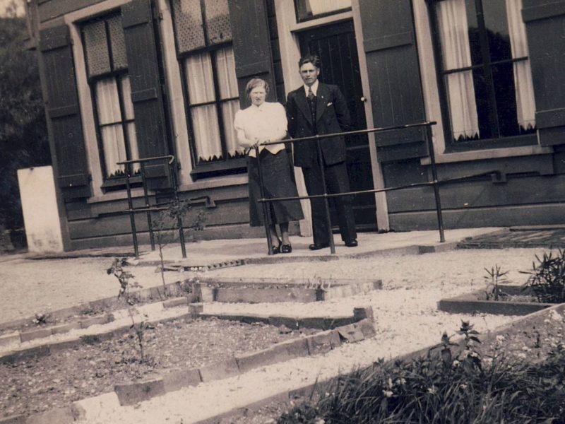 Historische foto Fortwachterswoning Overdiemerweg