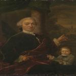 Mr Jan Van Der Poll (1721-1801) Kerkmeester van 1739-1747) Met zijn buiten huis te Spijk, Amsterdam Museum