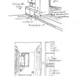 5 Ontwerp kitchenette, schuifwand en entréé met voordeurinstallatie, bron_ Rietveld-Schröder archief (Centraal Museum Utrecht)