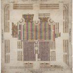 Zitplaatsen van de Amstelkerk met doophuis, banken en stoelen, Maurits Walraven