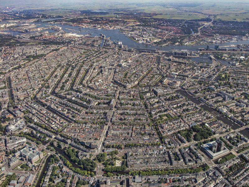 Amsterdam, 19 juli 2016. Overzicht binnenstad foto Peter Elenbaas - Copyright Peter Elenbaas