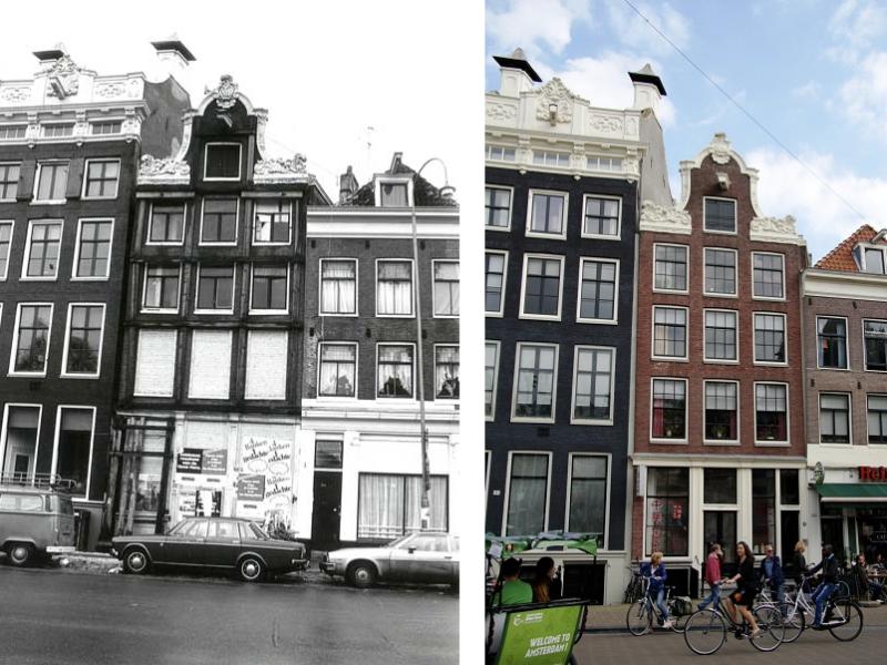 Geldersekade 121 Oud, ca. 1980 Vs Nieuw, 2014