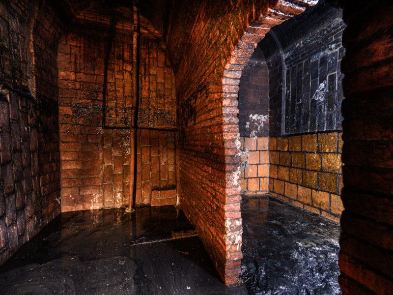 Waterkelder onder het souterrain van het Betty Asfalt Complex