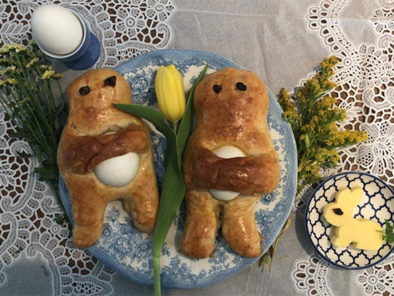 Vers gebakken Paasmannetjes.