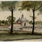 Singelgracht met Utrechtsepoort door J.G.L. Rieke (1817-1898)