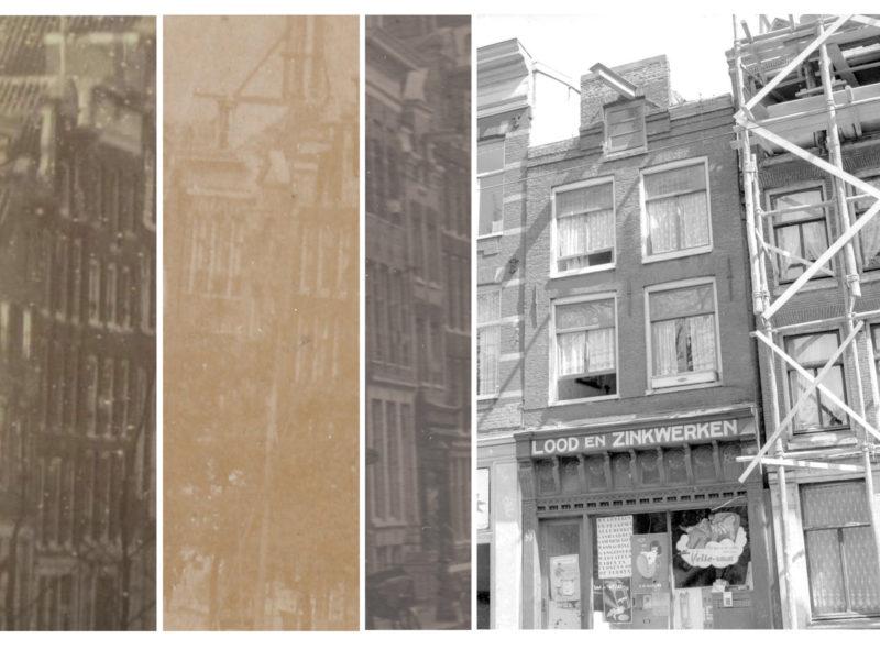 Van links naar rechts: rond 1890 (foto: Rijksmuseum), 1901, 1915, 1955
