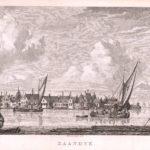Gortershoek gezicht op Zaandijk met rechts op de achtergrond diverse molens aan Zaandamse zijde.