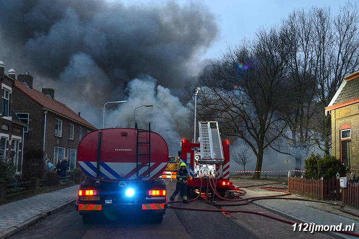 Brand bij 'De Schouw' op 14 januari 2018. Bron: 112IJmond.nl
