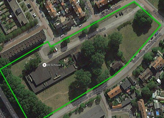 Luchtfoto plangebied De Schouw, Bron: Velsen.nl