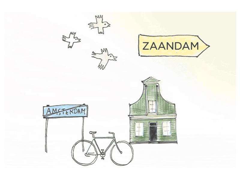 Fietstocht Plaatje Zaandam Amsterdam