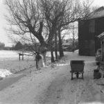 Het hooihuis, winter van 192-1963 (Foto: Wim Krijt)