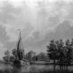 Haagse Schouw bij Leiden (C.H. van Amerom 1804 - 1874) met waarschijnlijk boerderij Welgelegen.