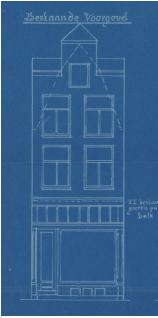 Verbouwingstekening 1904, bestaande toestand met tympaan.
